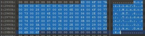 Using a hex editor to identify C2 address 2