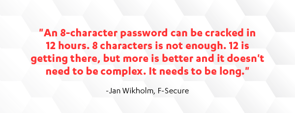 8-character password is not enough