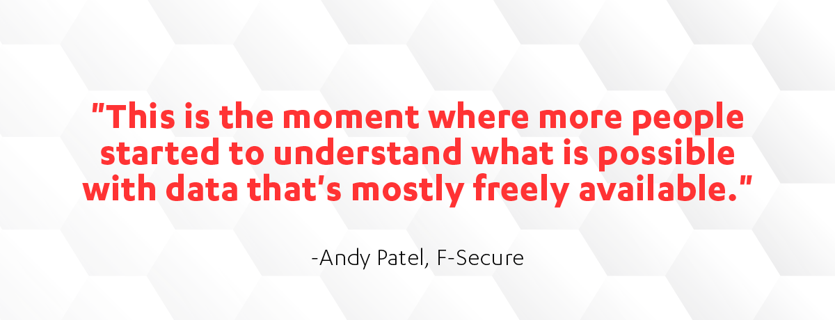 Andy Patel quote on Cyber Security Sauna