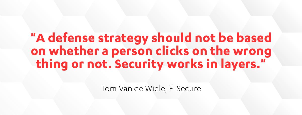 Tom Van de Wiele cyber defense strategy