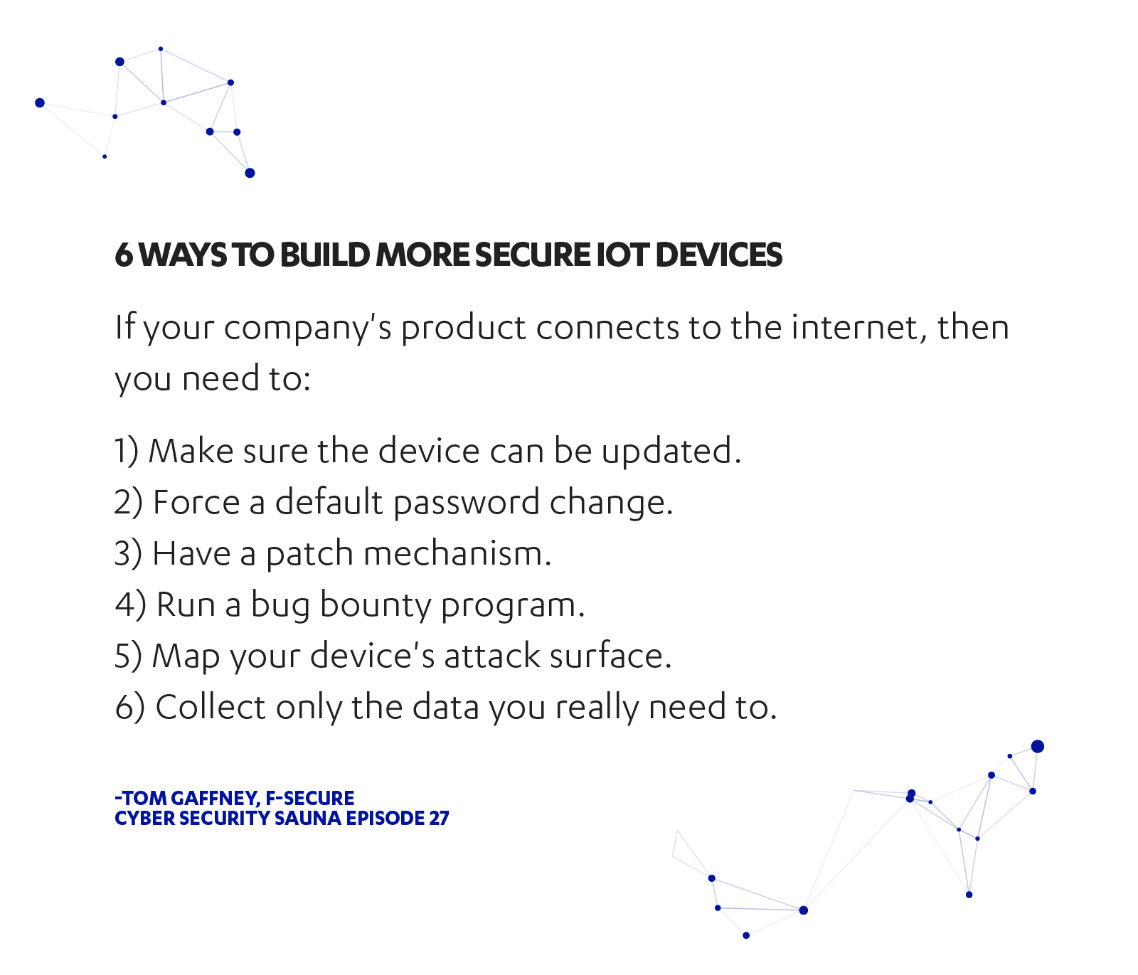 6 ways to build more secure IoT devices