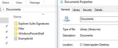 Library Files library saved to desktop