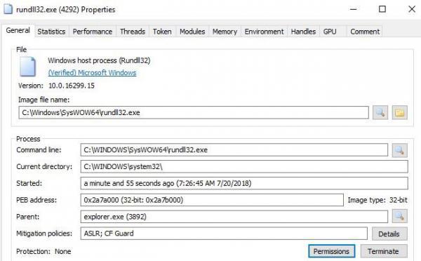 Library Files rundll exe properties 2