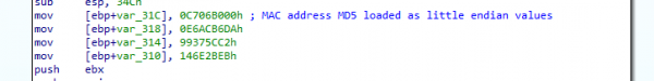ShadowHammer hardcoded MAC address MD5