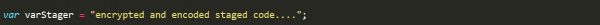 Code snipper showing stager being stored in a varStager variable