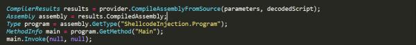Analyzing Sharpshooter codedomprovider
