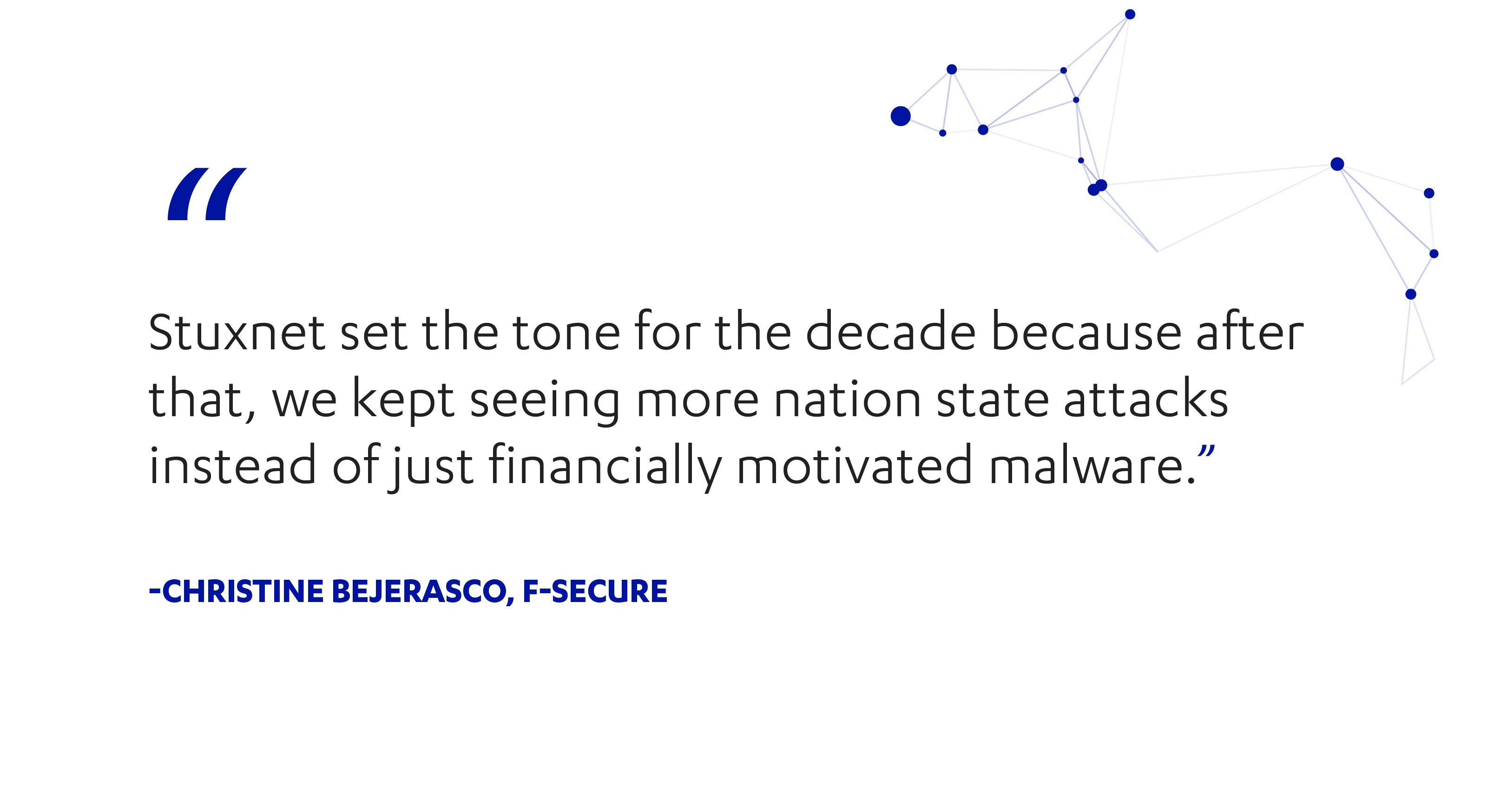 F-Secure's Christine Bejerasco on the past decade in cyber