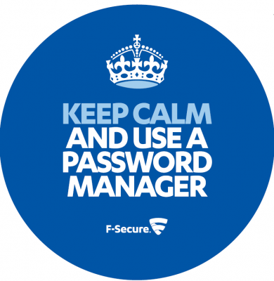 Keep Calm And Use A Password Manager laptop sticker