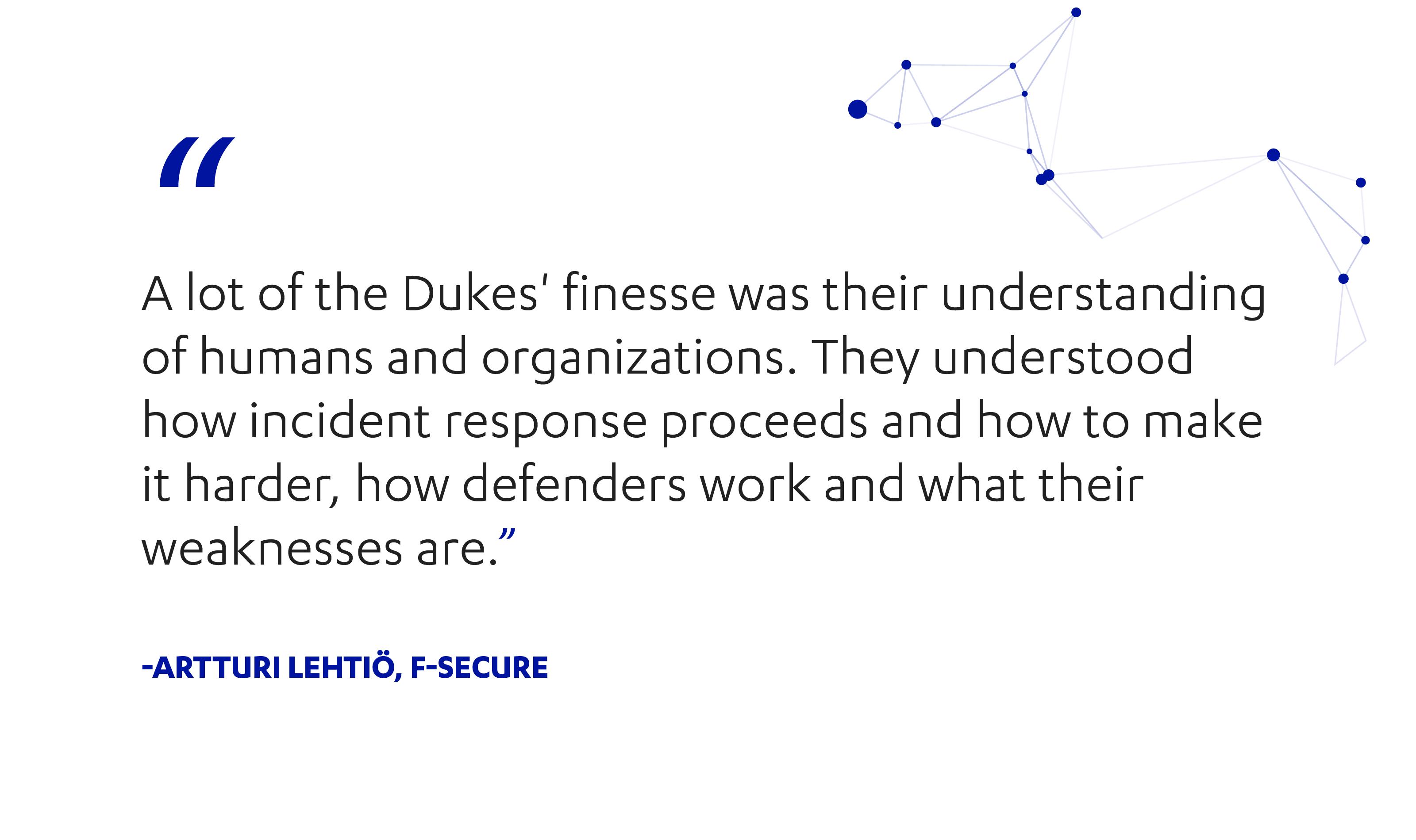 F-Secure's Artturi Lehtio on the finesse of the Dukes