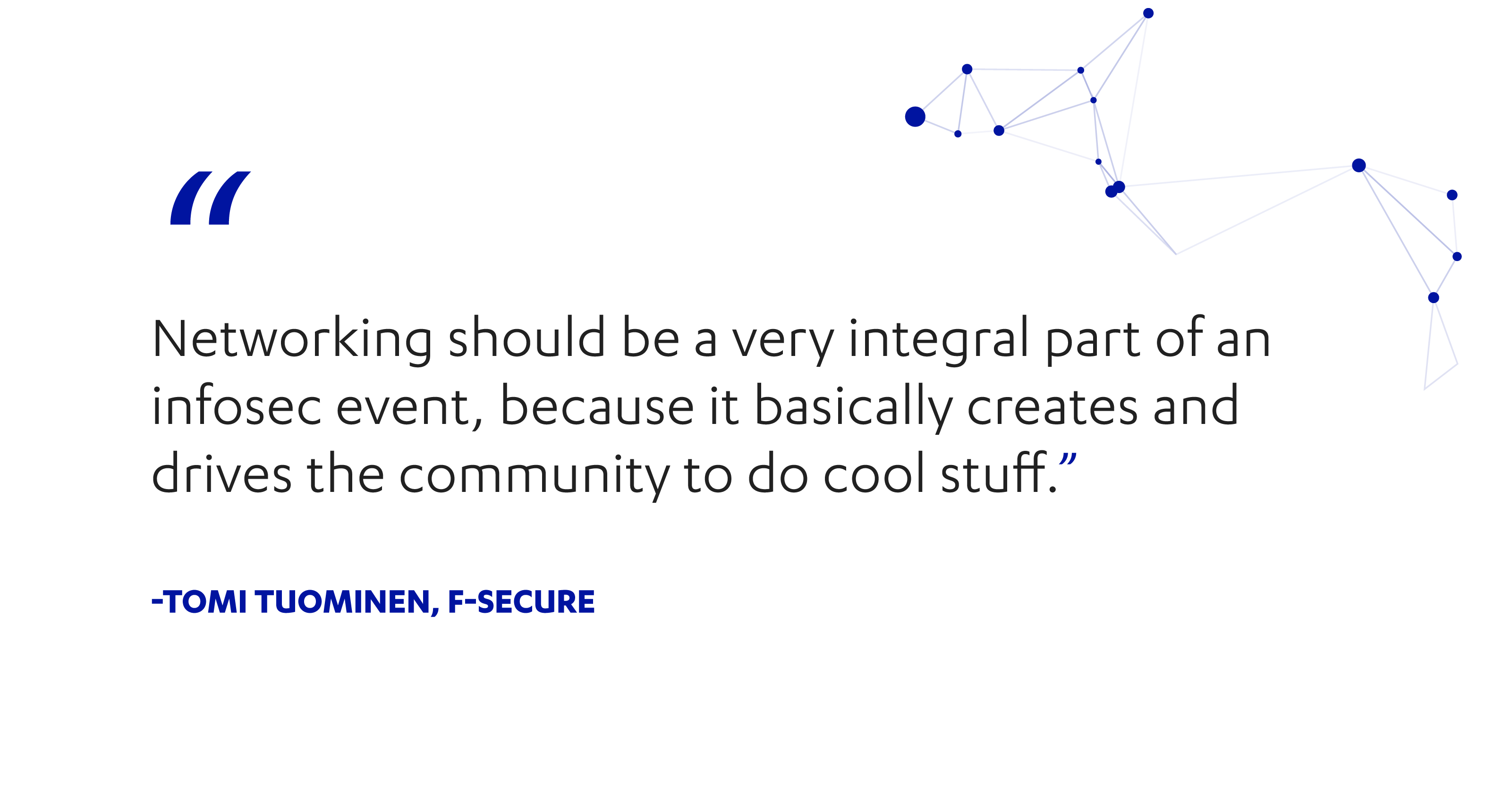 F-Secure's Tomi Tuominen on networking at infosec conferences
